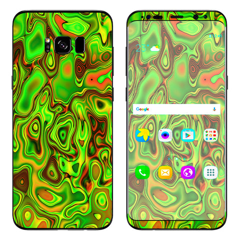 Green Glass Trippy Psychedelic Samsung Galaxy S8 Plus Skin