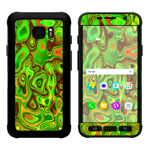 Green Glass Trippy Psychedelic Samsung Galaxy S7 Active Skin