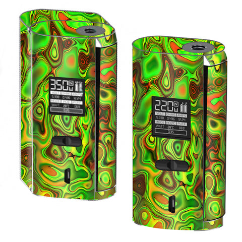 Green Glass Trippy Psychedelic Smok GX2/4 Skin