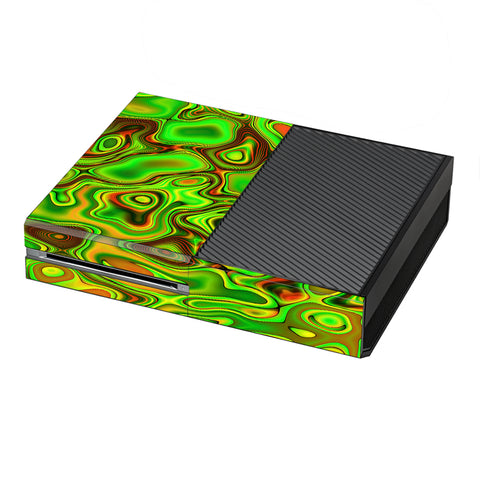 Green Glass Trippy Psychedelic Microsoft Xbox One Skin