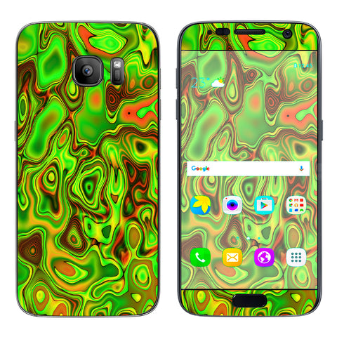 Green Glass Trippy Psychedelic Samsung Galaxy S7 Skin