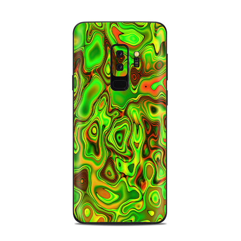 Green Glass Trippy Psychedelic Samsung Galaxy S9 Plus Skin