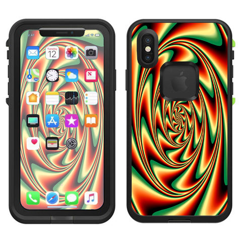 Trippy Motion Moving Swirl Illusion Lifeproof Fre Case iPhone X Skin