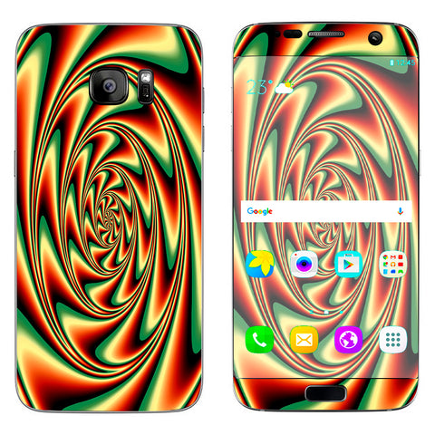 Trippy Motion Moving Swirl Illusion Samsung Galaxy S7 Edge Skin
