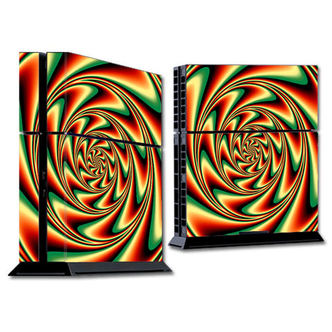 Trippy Motion Moving Swirl Illusion Sony Playstation PS4 Skin