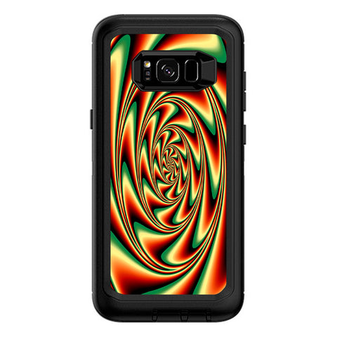 Trippy Motion Moving Swirl Illusion Otterbox Defender Samsung Galaxy S8 Plus Skin