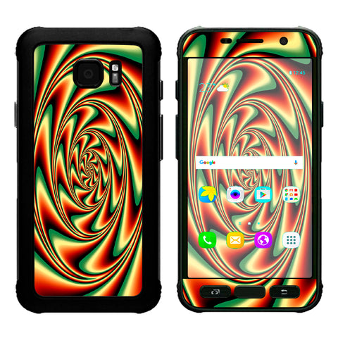 Trippy Motion Moving Swirl Illusion Samsung Galaxy S7 Active Skin