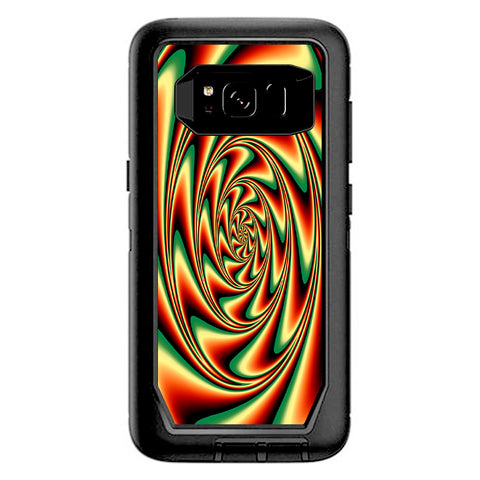 Trippy Motion Moving Swirl Illusion Otterbox Defender Samsung Galaxy S8 Skin