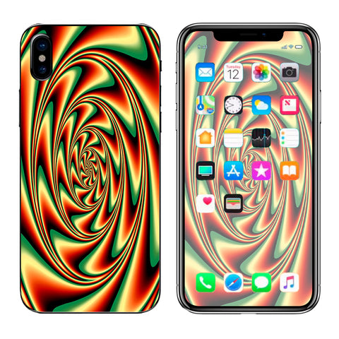 Trippy Motion Moving Swirl Illusion Apple iPhone X Skin