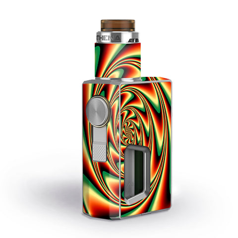 Trippy Motion Moving Swirl Illusion Geekvape Athena Squonk Skin