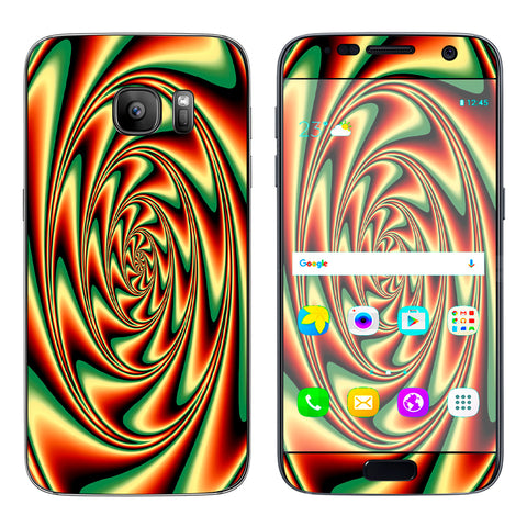 Trippy Motion Moving Swirl Illusion Samsung Galaxy S7 Skin