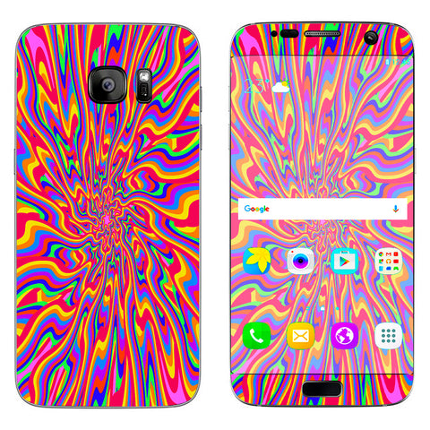 Optical Illusion Colorful Holographic Samsung Galaxy S7 Edge Skin