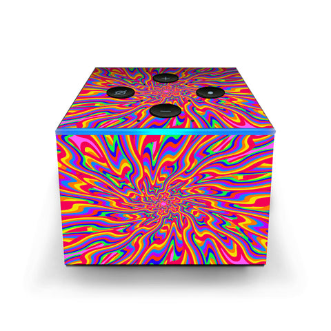 Optical Illusion Colorful Holographic Amazon Fire TV Cube Skin