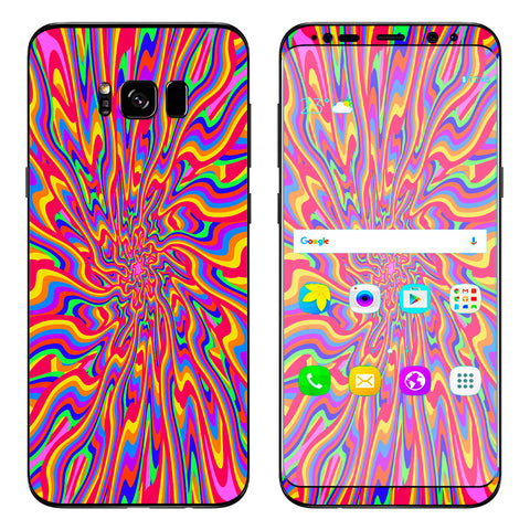 Optical Illusion Colorful Holographic Samsung Galaxy S8 Plus Skin