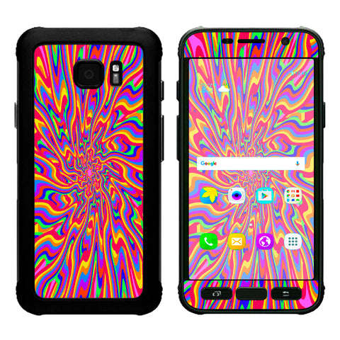 Optical Illusion Colorful Holographic Samsung Galaxy S7 Active Skin