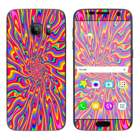 Optical Illusion Colorful Holographic Samsung Galaxy S7 Skin