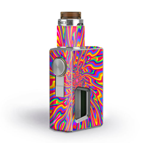 Optical Illusion Colorful Holographic Geekvape Athena Squonk Skin