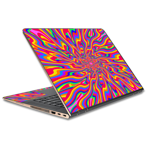 Optical Illusion Colorful Holographic HP Spectre x360 13t Skin