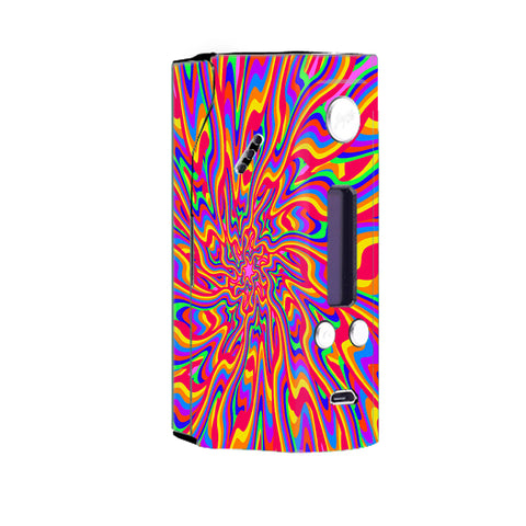 Optical Illusion Colorful Holographic Wismec Reuleaux RX200 Skin