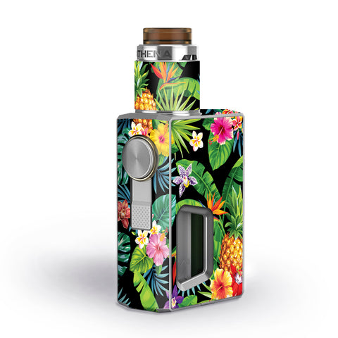 Tropical Flowers Pineapple Hibiscus Hawaii Geekvape Athena Squonk Skin