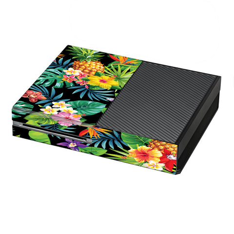 Tropical Flowers Pineapple Hibiscus Hawaii Microsoft Xbox One Skin