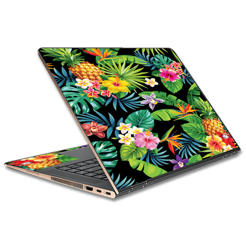 Tropical Flowers Pineapple Hibiscus Hawaii HP Spectre x360 13t Skin
