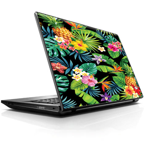 Tropical Flowers Pineapple Hibiscus Hawaii HP Dell Compaq Mac Asus Acer 13 to 16 inch Skin
