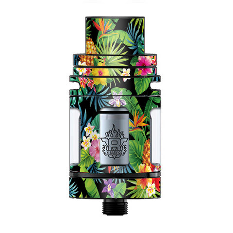 Tropical Flowers Pineapple Hibiscus Hawaii TFV8 X-baby Tank Smok Skin