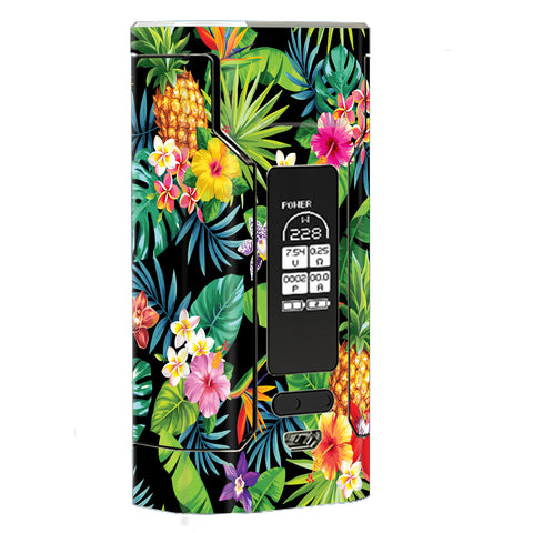 Tropical Flowers Pineapple Hibiscus Hawaii Wismec Predator 228W Skin