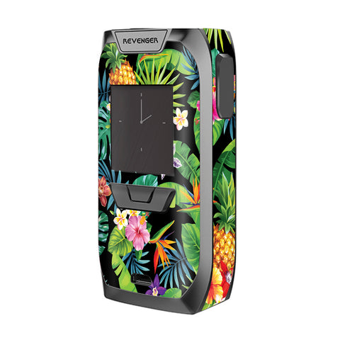 Tropical Flowers Pineapple Hibiscus Hawaii Vaporesso Revenger Skin