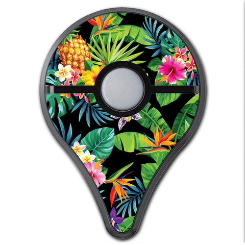 Tropical Flowers Pineapple Hibiscus Hawaii Pokemon Go Plus Skin