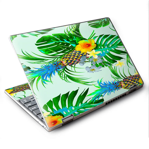 "Tropical Floral Pattern Pineapple Palm Trees Lenovo Yoga 710 11.6"" Skin"