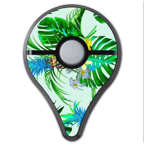Tropical Floral Pattern Pineapple Palm Trees Pokemon Go Plus Skin