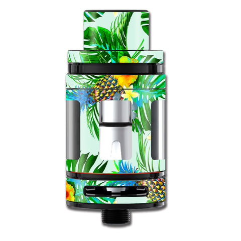 Tropical Floral Pattern Pineapple Palm Trees Smok TFV8 Big Baby Beast  Skin