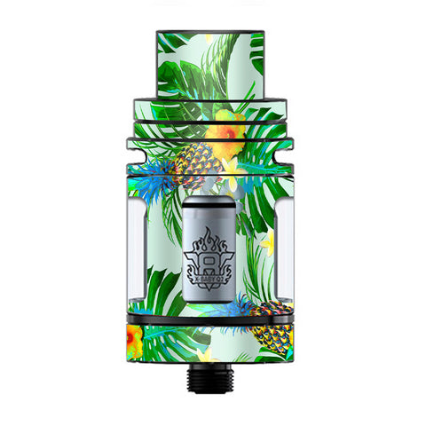 Tropical Floral Pattern Pineapple Palm Trees TFV8 X-baby Tank Smok Skin