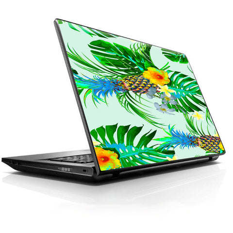 Tropical Floral Pattern Pineapple Palm Trees HP Dell Compaq Mac Asus Acer 13 to 16 inch Skin
