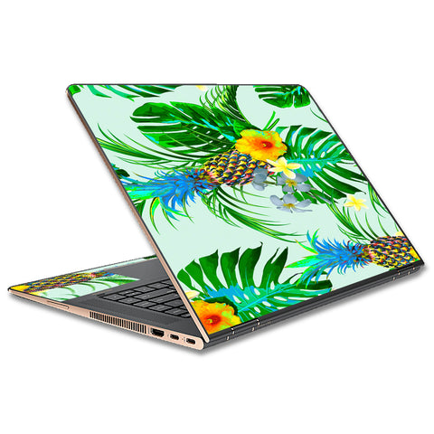 Tropical Floral Pattern Pineapple Palm Trees HP Spectre x360 13t Skin