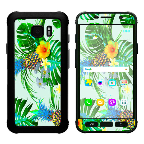Tropical Floral Pattern Pineapple Palm Trees Samsung Galaxy S7 Active Skin