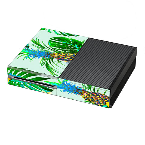 Tropical Floral Pattern Pineapple Palm Trees Microsoft Xbox One Skin