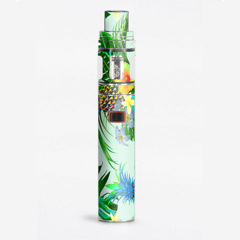 Tropical Floral Pattern Pineapple Palm Trees Smok Stick X8 Skin