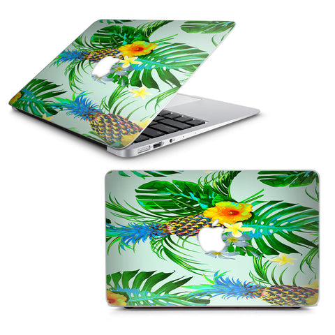 "Tropical Floral Pattern Pineapple Palm Trees Macbook Air 13"" A1369 A1466 Skin"