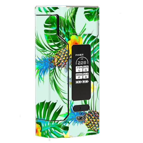 Tropical Floral Pattern Pineapple Palm Trees Wismec Predator 228W Skin