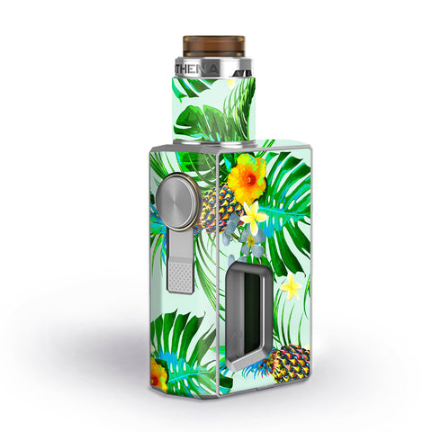 Tropical Floral Pattern Pineapple Palm Trees Geekvape Athena Squonk Skin