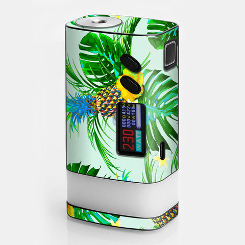 Tropical Floral Pattern Pineapple Palm Trees Sigelei Fuchai Glo 230w Skin