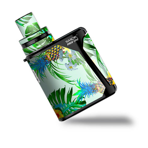 Tropical Floral Pattern Pineapple Palm Trees Smok Priv One Skin