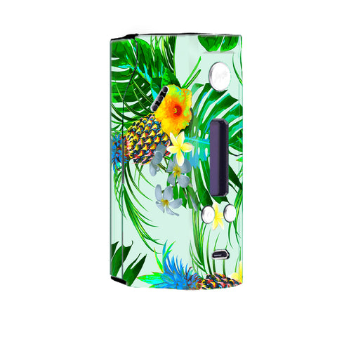 Tropical Floral Pattern Pineapple Palm Trees Wismec Reuleaux RX200 Skin