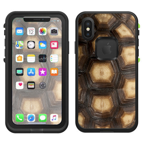 Turtle Shell Sea Desert Tortoise  Lifeproof Fre Case iPhone X Skin