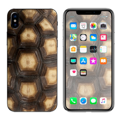 Turtle Shell Sea Desert Tortoise  Apple iPhone X Skin
