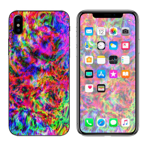 Tye Dye Fibers Felt Tie Die Colorful Apple iPhone X Skin