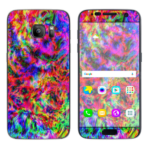 Tye Dye Fibers Felt Tie Die Colorful Samsung Galaxy S7 Skin